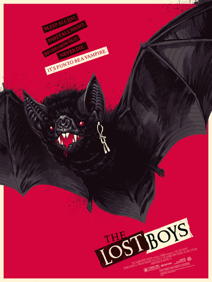 The Lost Boys poster art Bat Version by Phantom City Creative