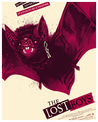 The Lost Boys Bat Version poster art by Phantom City Creative