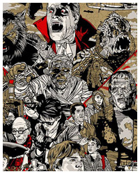 The Monster Squad poster By Tyler Stout
