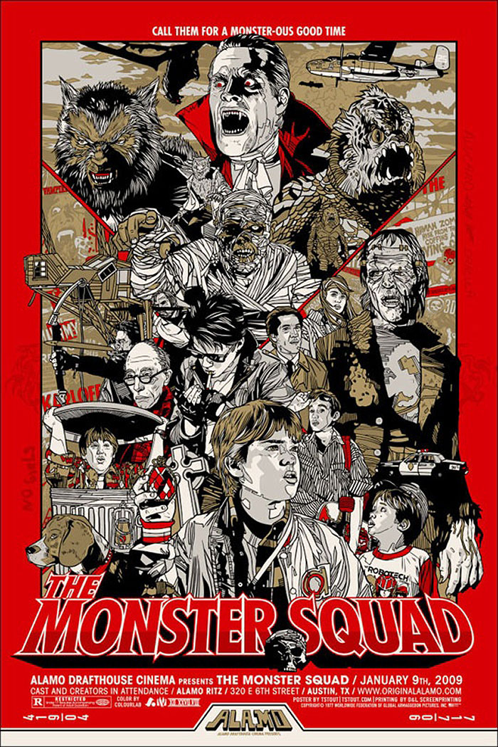 The Monster Squad (1987) poster by Tyler Stout