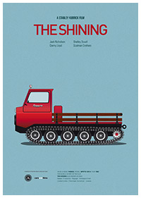 The Shining (1980) poster art by Jesús Prudencio