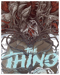 The Thing poster by Randy Ortiz