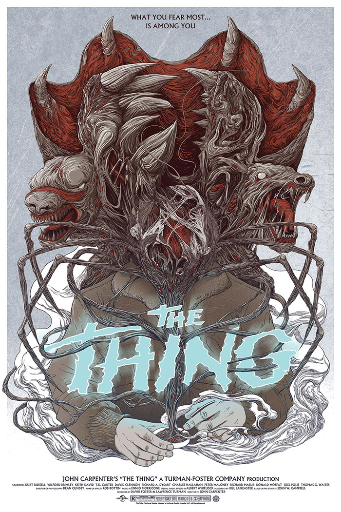 The Thing poster art by Randy Ortiz