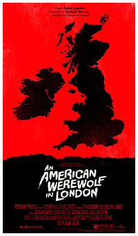 An American Werewolf in London poster print by Olly Moss