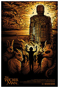 The Wicker Man poster by Dan Mumford